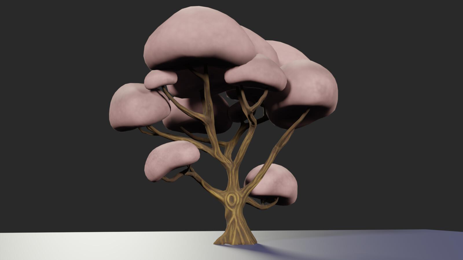 Stylized Cherry Blossom Tree