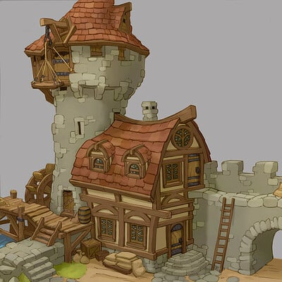 Mike cotton russell fable building cutaway b