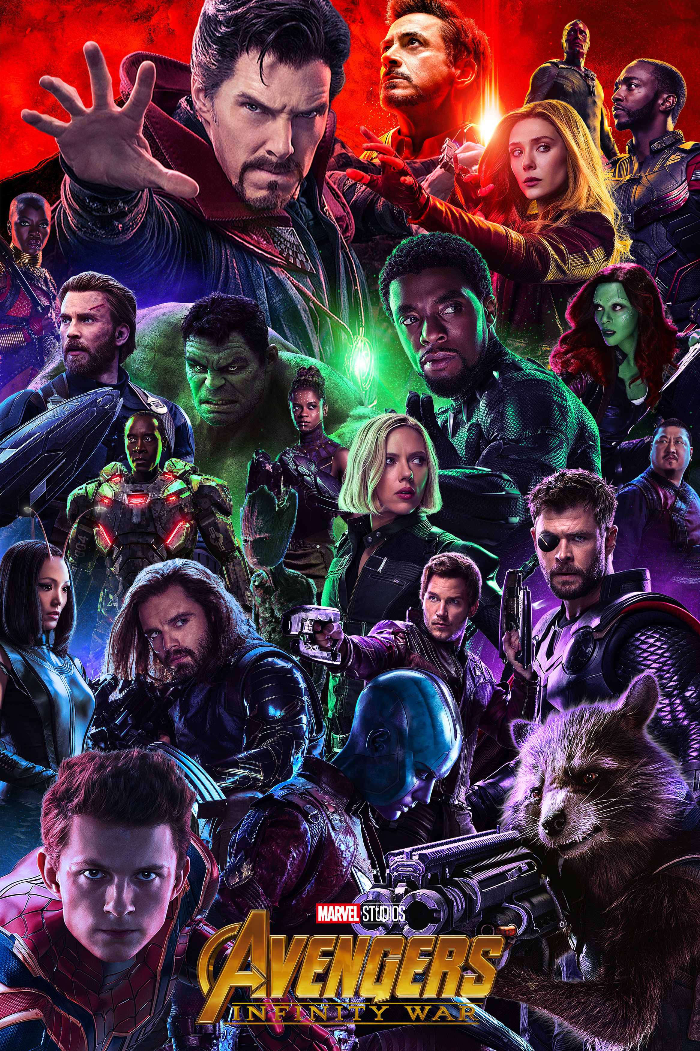 Avengers Infinity War Alternate Movie Poster featuring the entire cast.