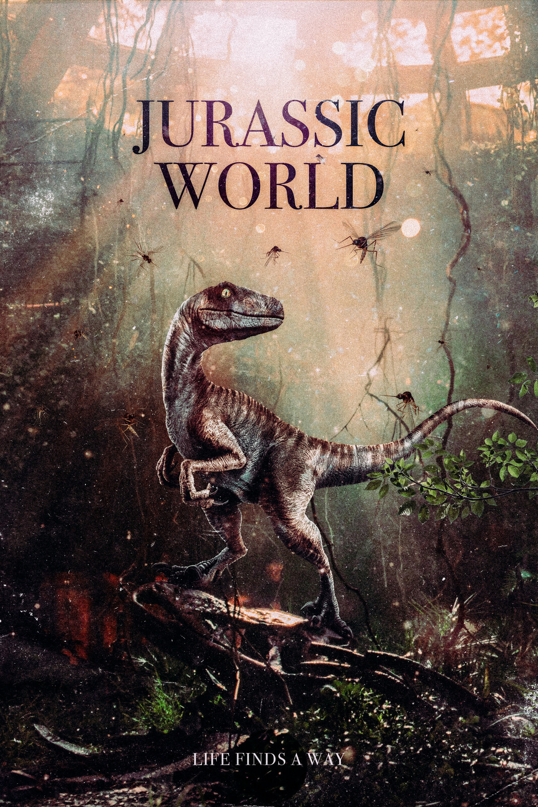 Jurassic World Alternate Velociraptor Movie Poster
