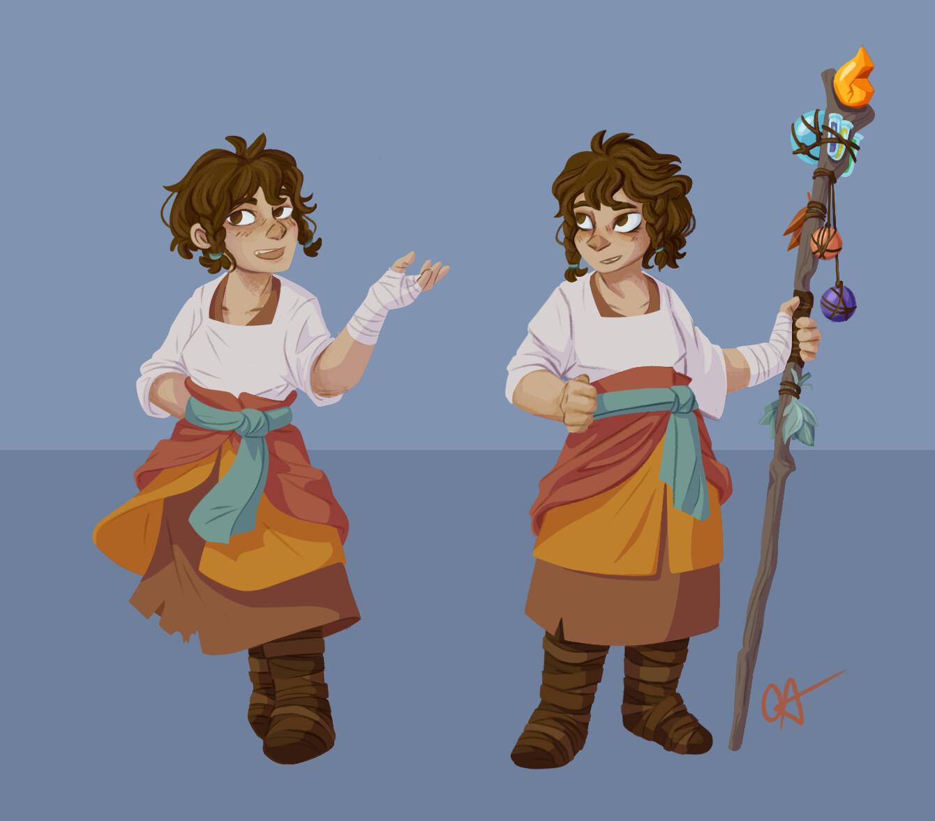 Character Development Process (Neci) Concept Art