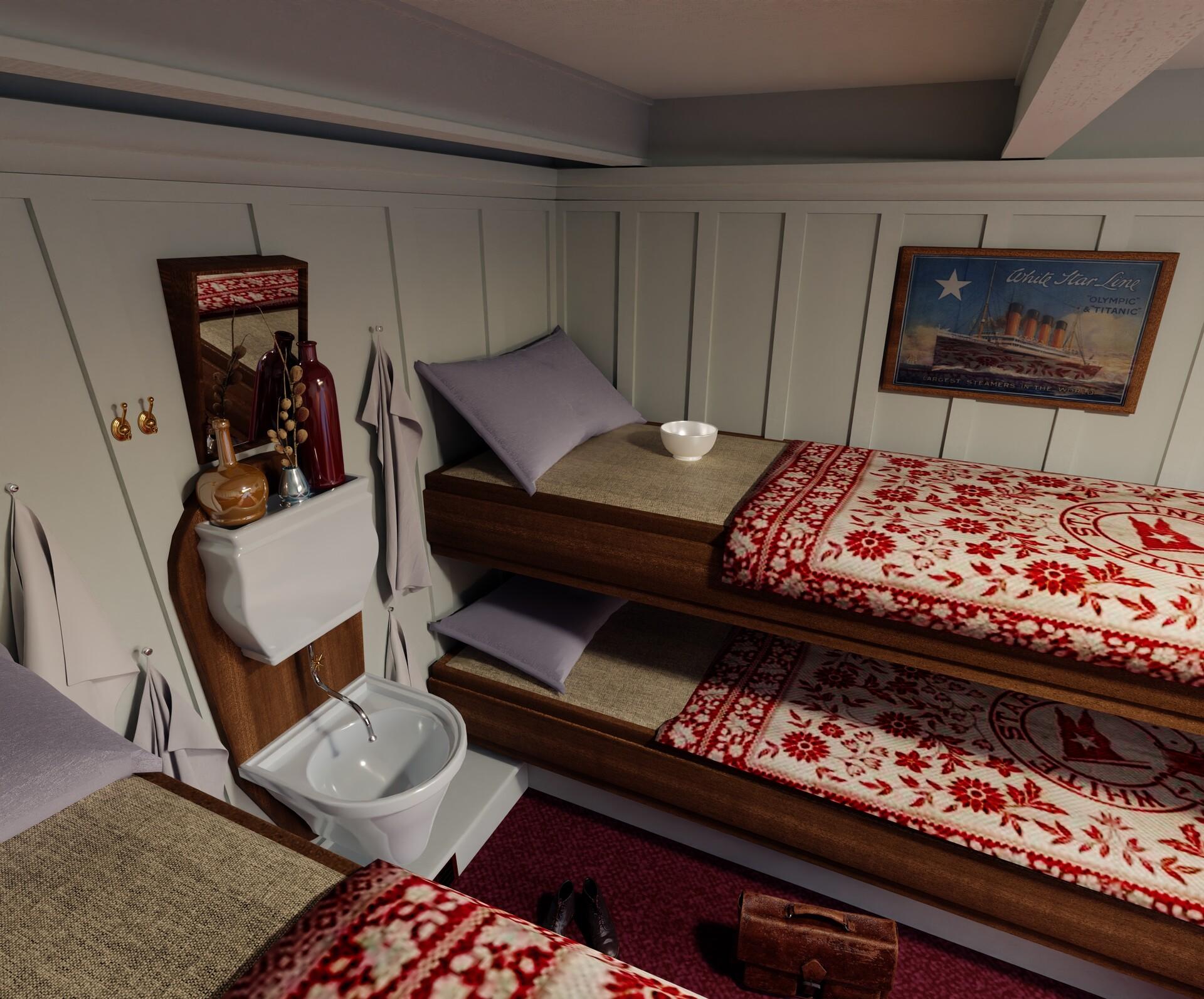 Artstation Titanic 3rd Class Cabin Thomas Binder
