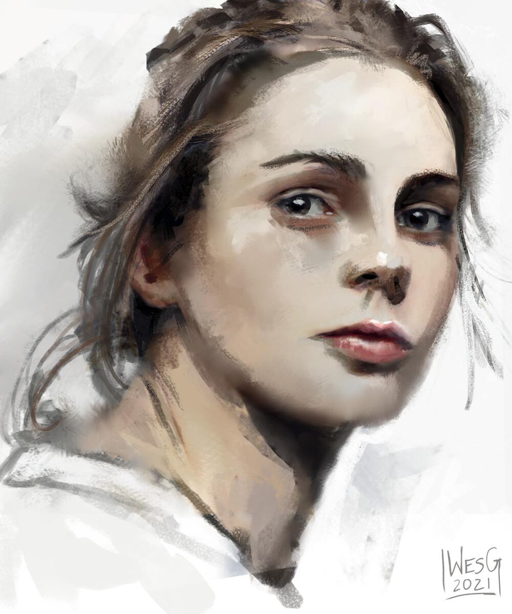 Watercolor Style Sketch