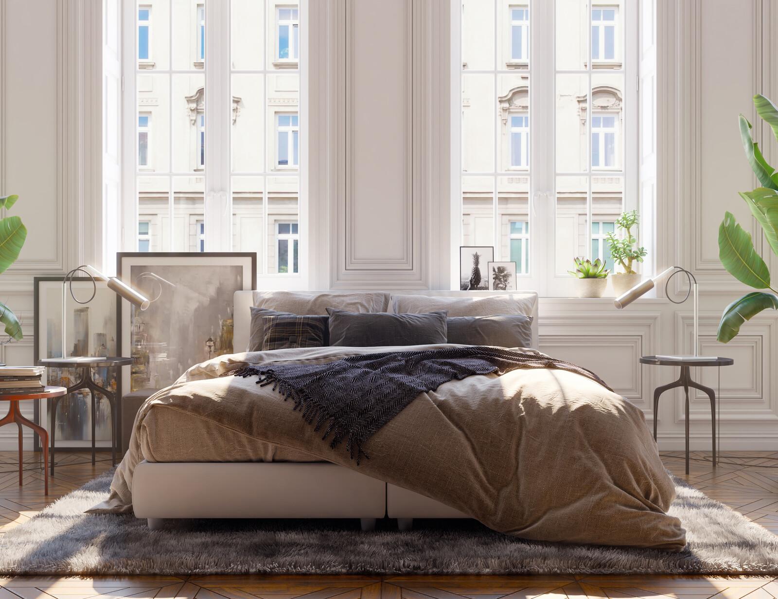 Loft Bedroom, Light Study