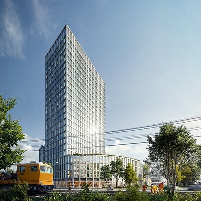 Play time architectural imagery playtime burckhard partner office building i01