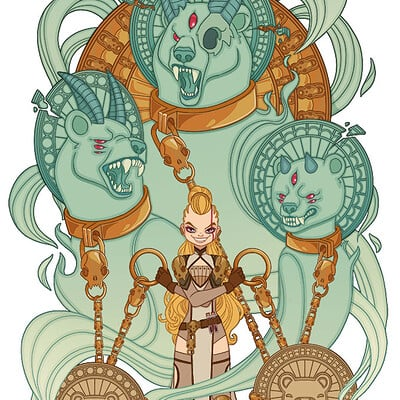 Jessica madorran patreon june 2021 goldilocks three bears illustration artstation