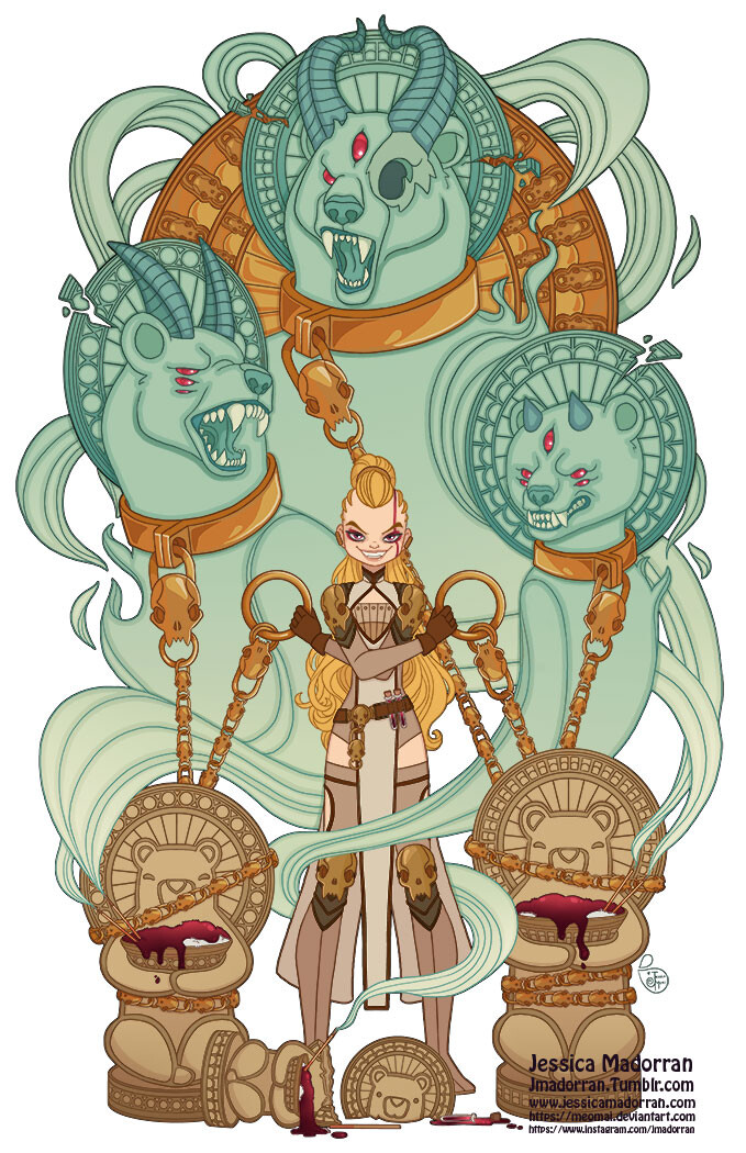 Patreon - June 2021- Illustration - Twisted Goldilocks and the Three Bears