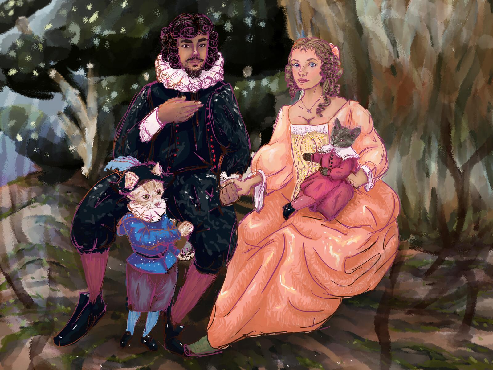 Family Portrait in 1650s Dutch Style