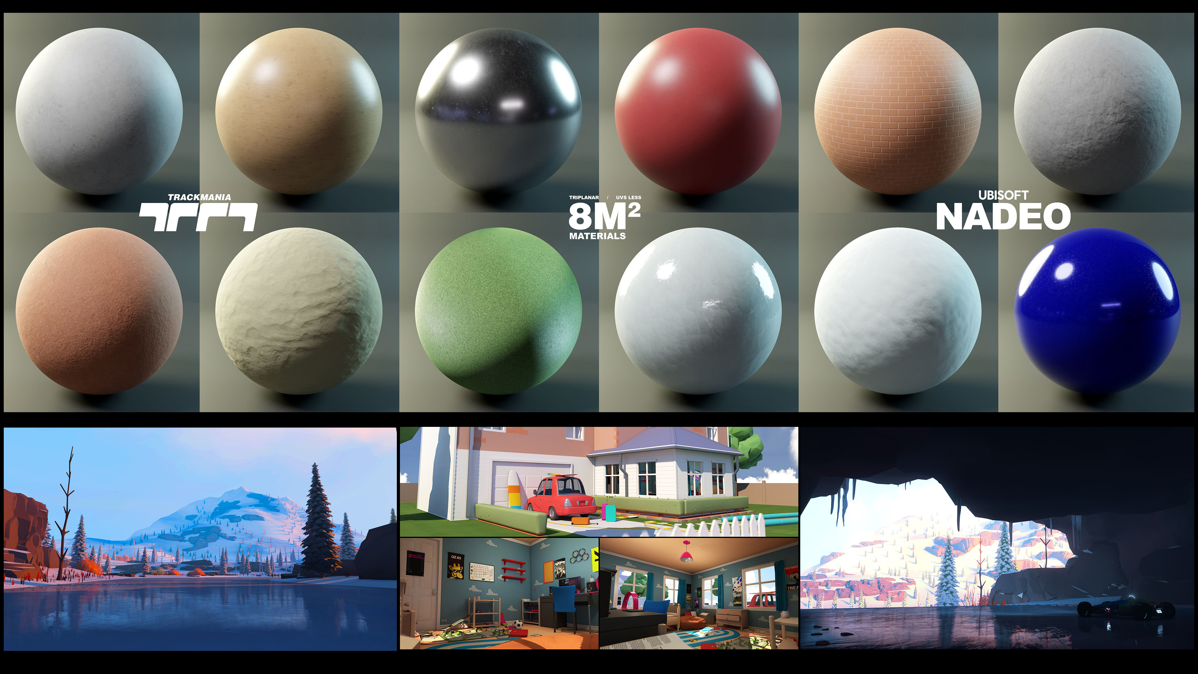 Top Half  Picture = All UvLess Materials Available To Players.  Bottom Half = Content Created By One Of Our Player AKA HTIMH Using These UvLess Custom Color Materials.