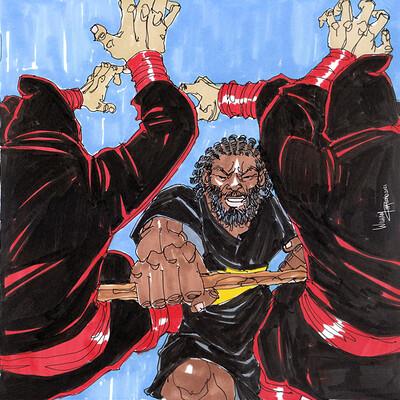 Afromation art smoke fight