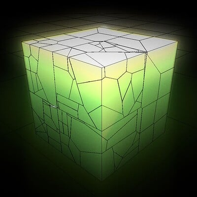 Dennis haupt 3dhaupt placeholder cube green modelled and animated by 3dhaupt in blender 2 93 6