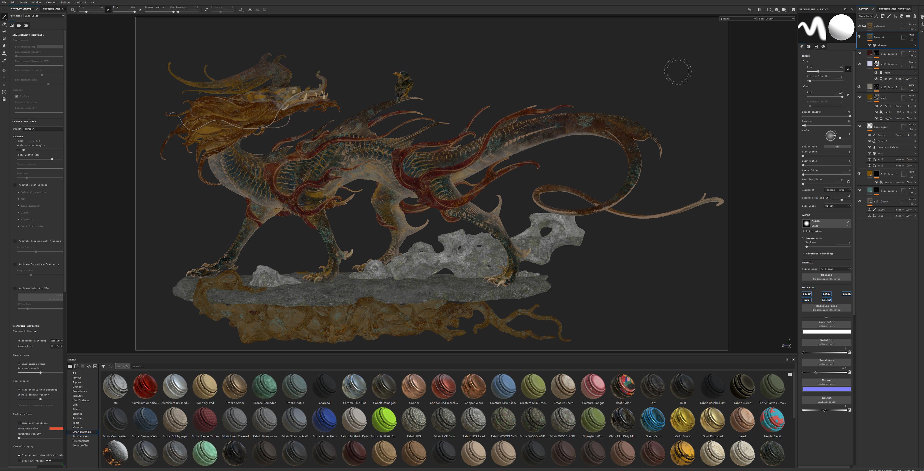 Screenshot in Substance Painter