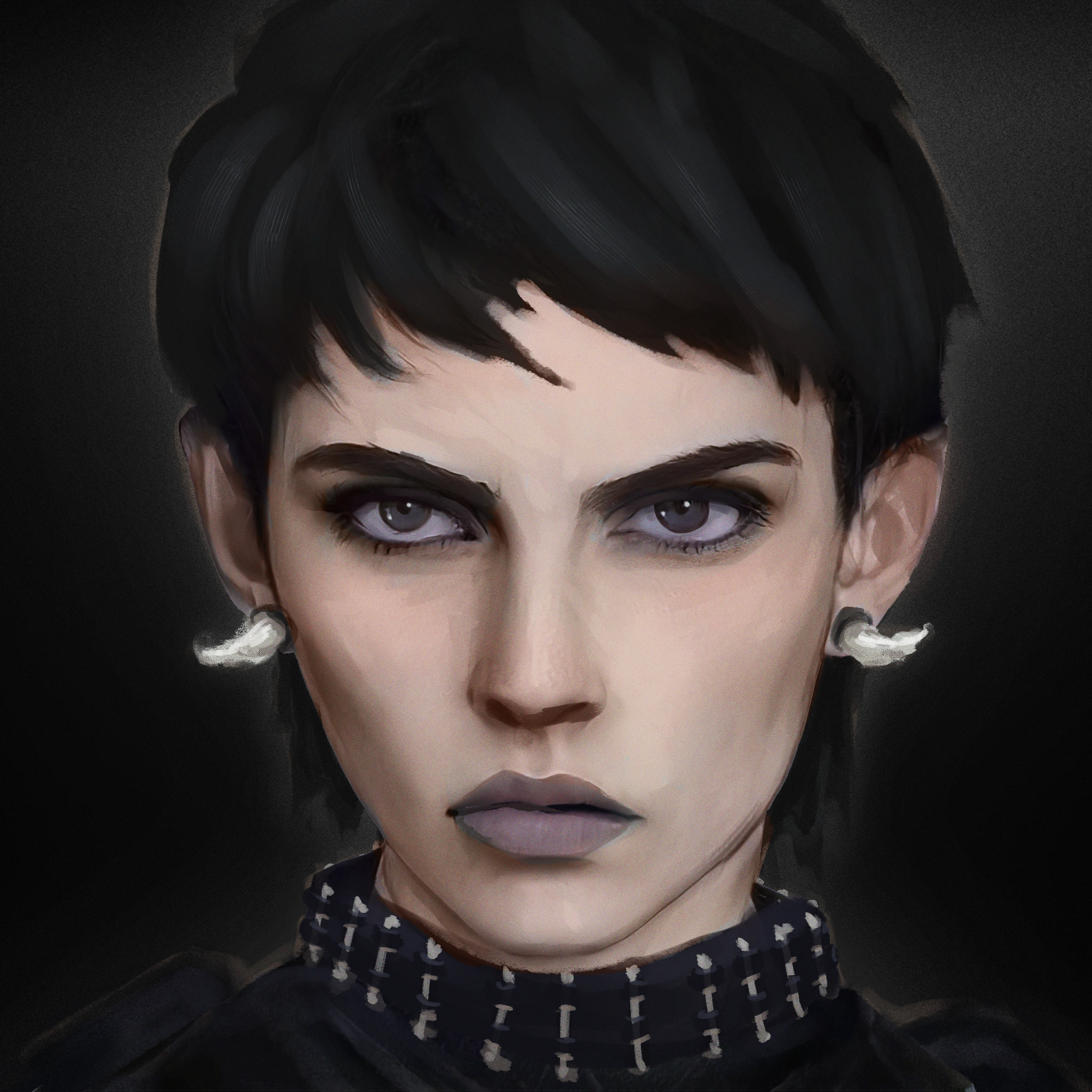Harrow without face paint.