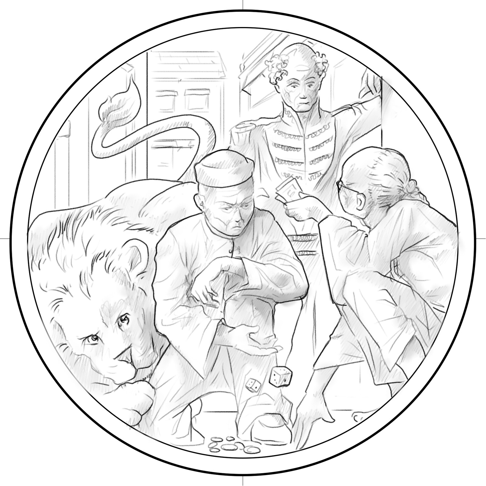 Sketch - 'Gambling'