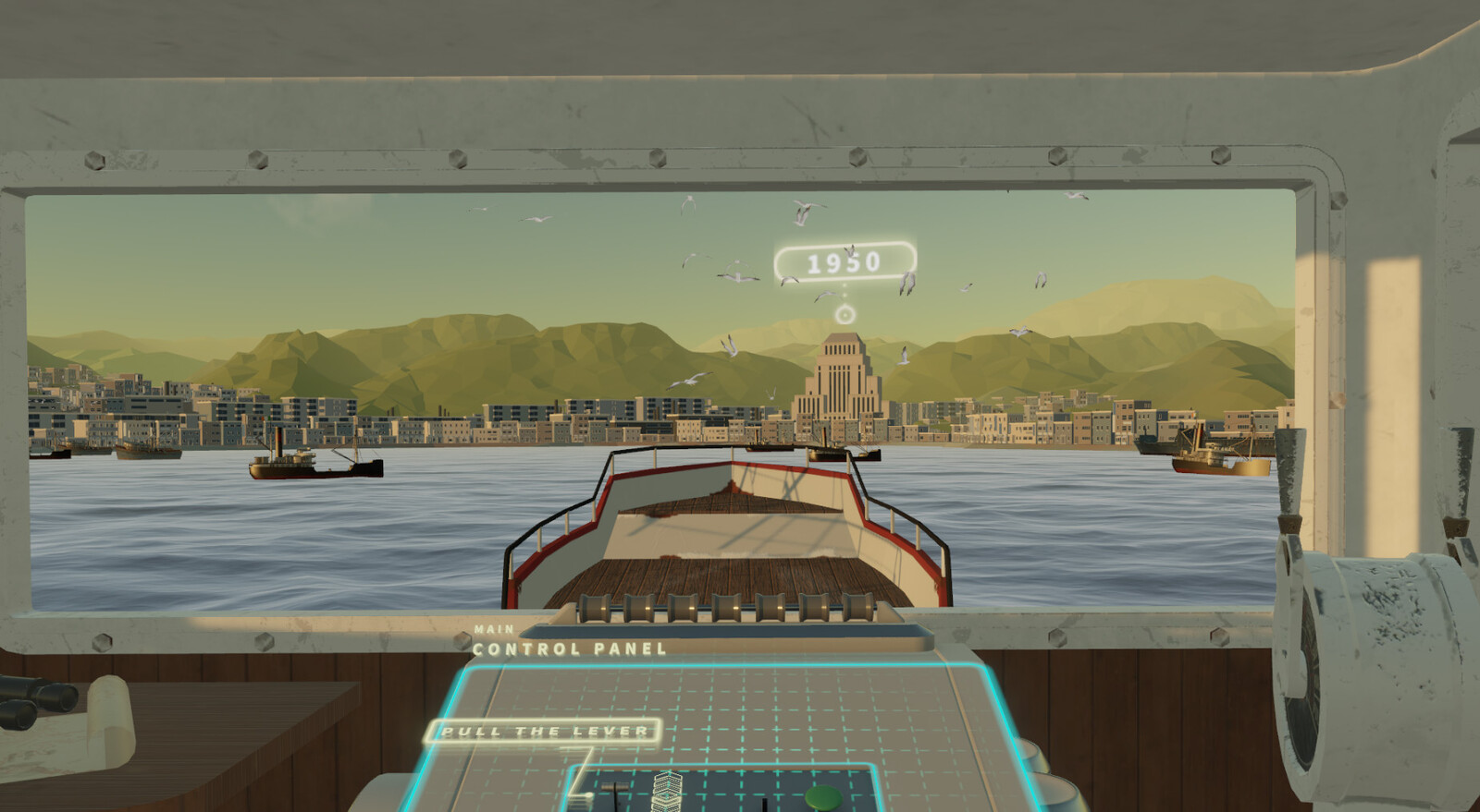 Moving to 1950s Hongkong in a ship with interactive UI