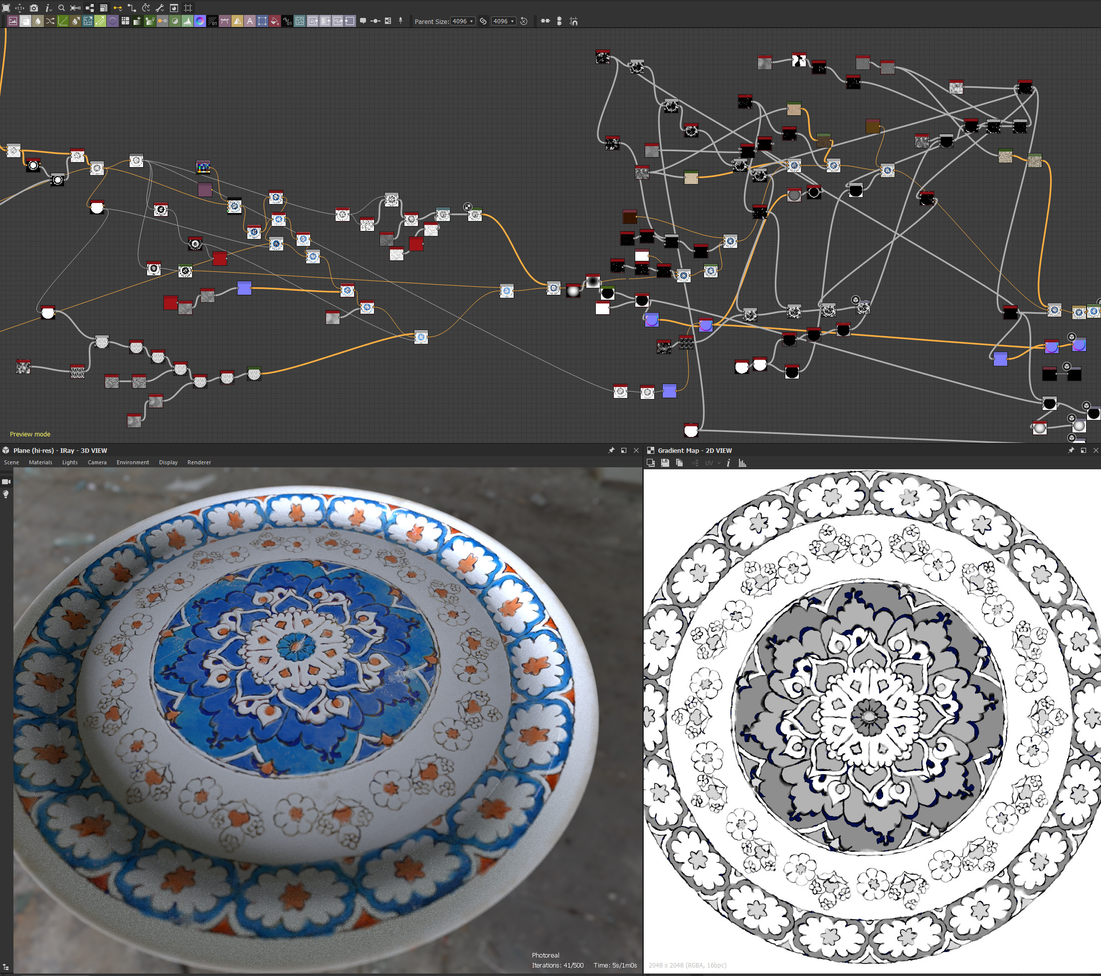 In substance Designer, you can create an infinite number of tiles by selecting the desired period template and playing with the parameters.