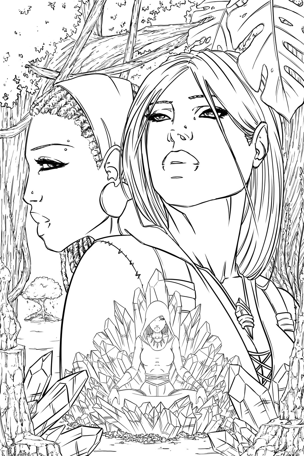 Issue 4 Cover - Line Art