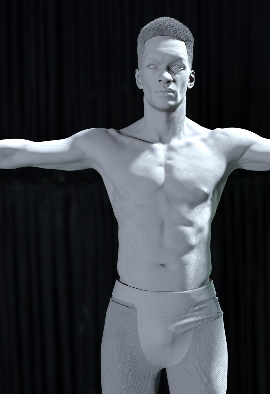 digital double clay render