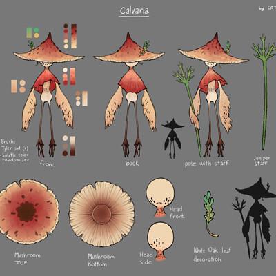 Ana ambroz calvaria mushroom character