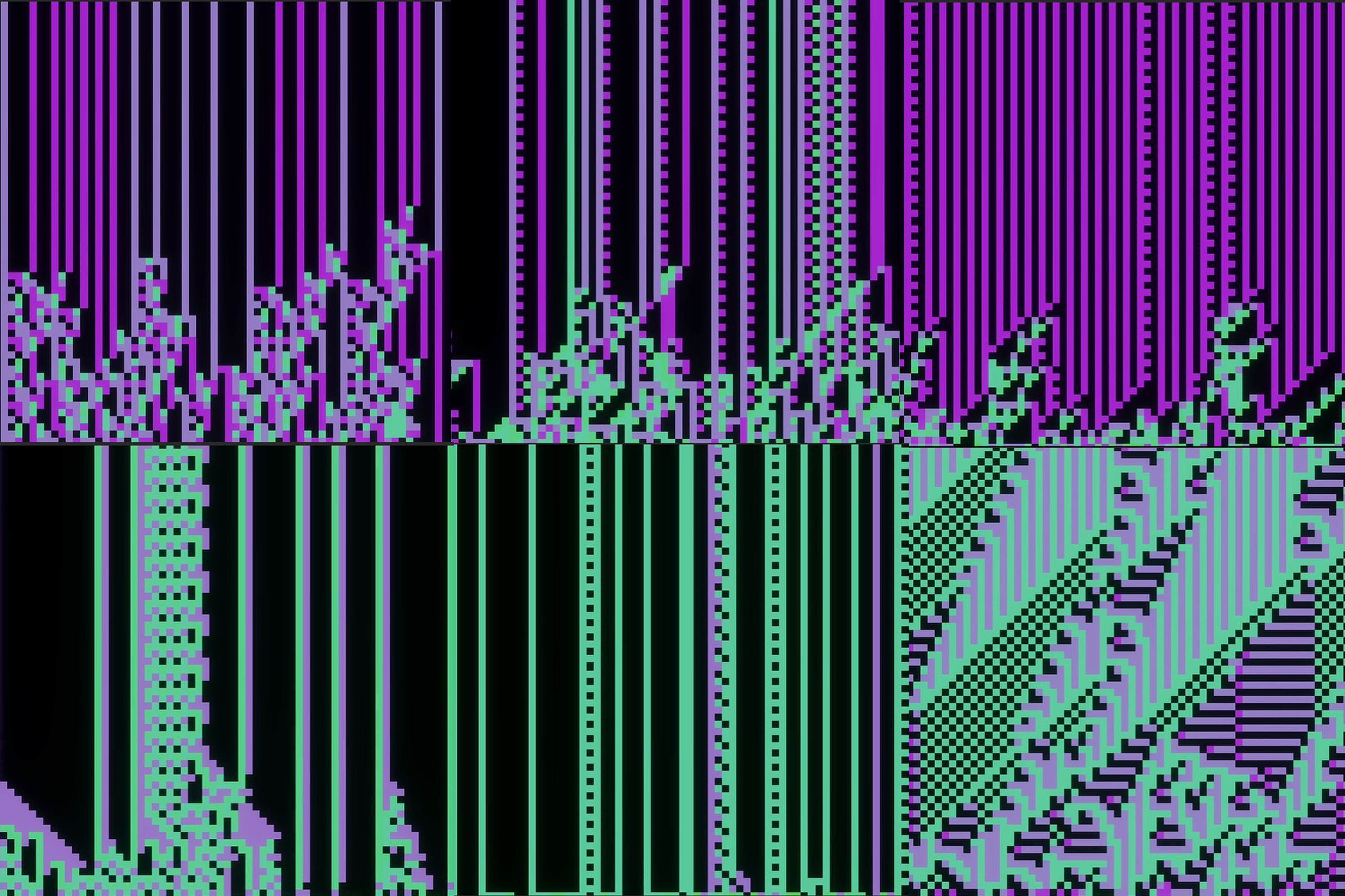 2D Chaos generated structures