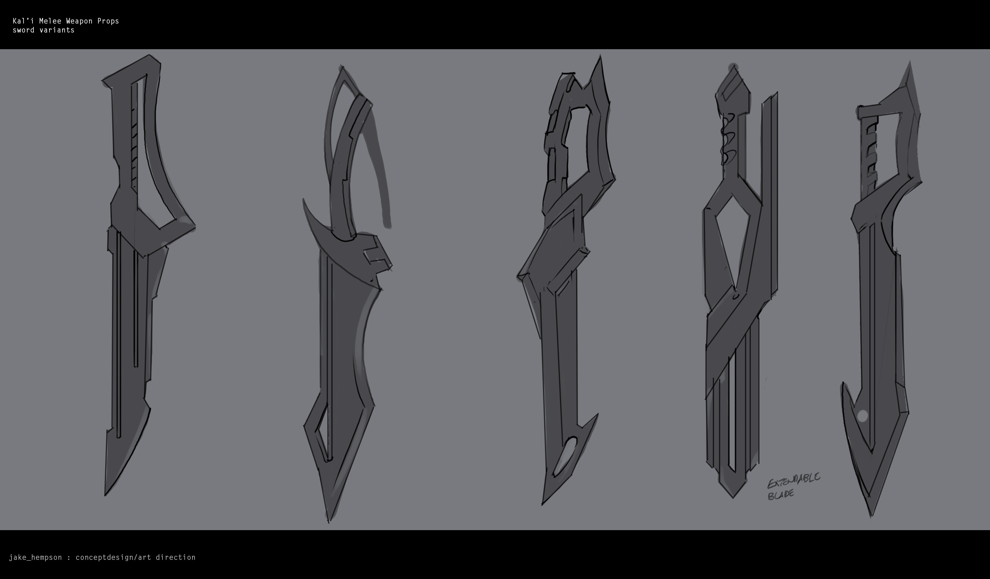 Thumbnail sketches for swords