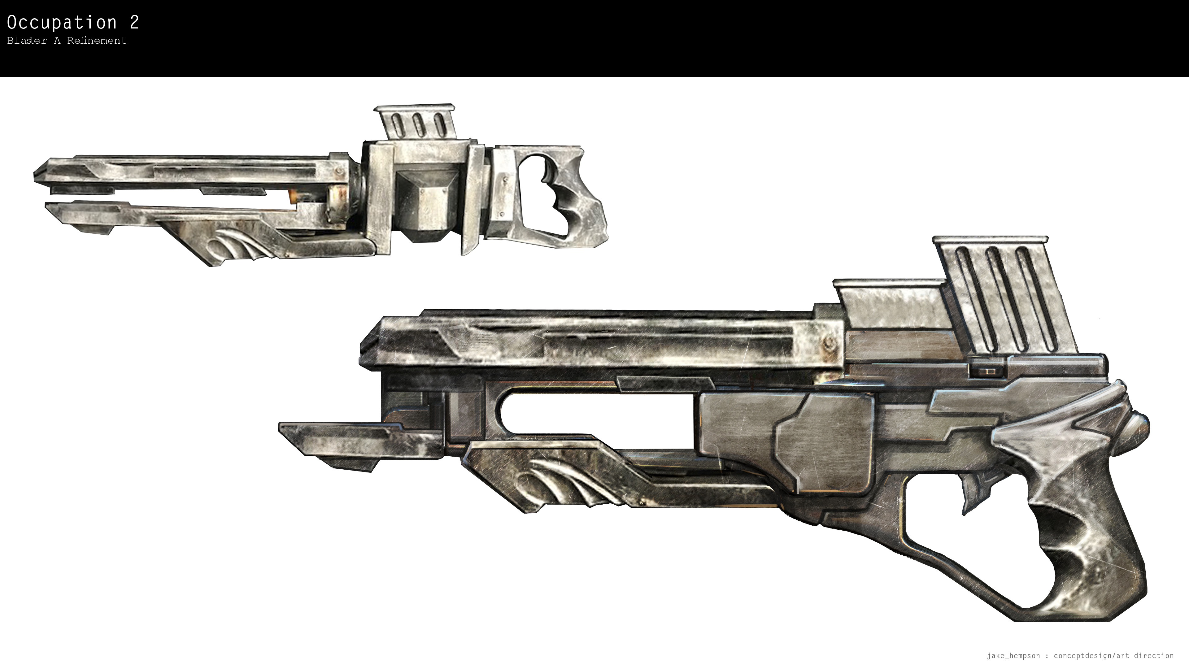 Blaster initial variant sketch.