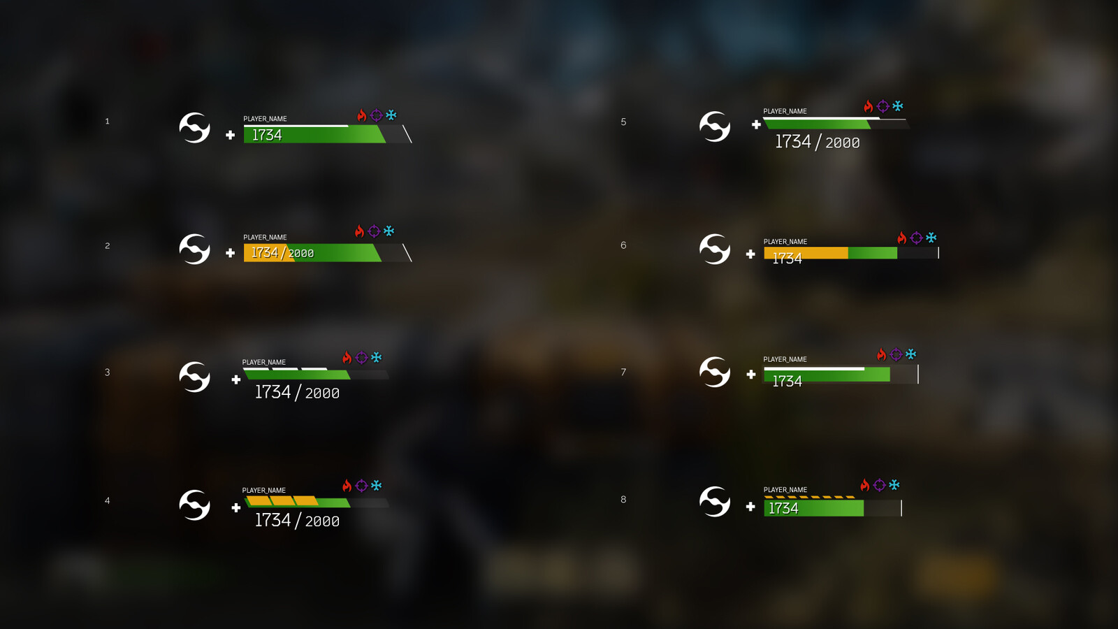 Explorations for health and shield bars 2