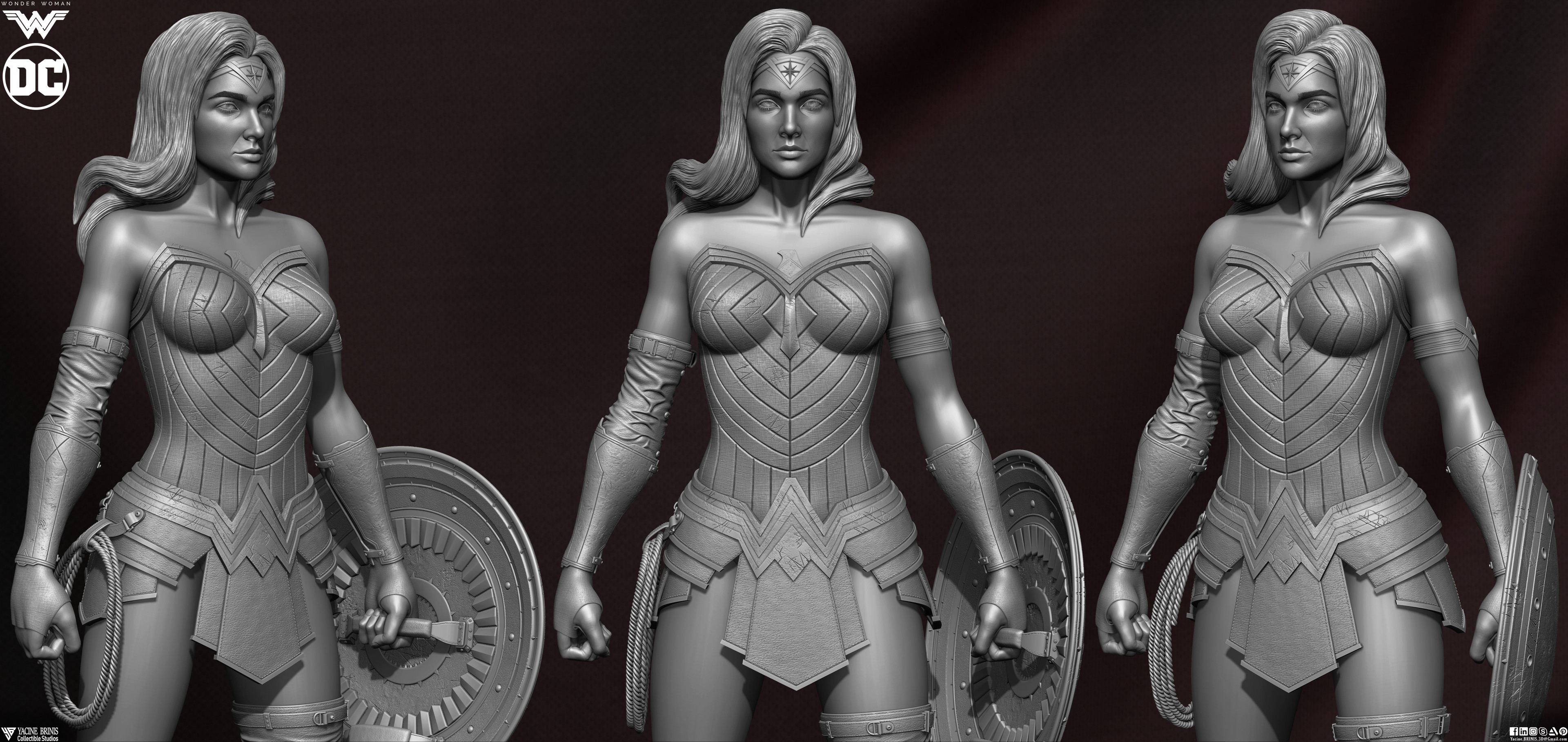Wonder Woman ZBrush Version, Personal Project (Sculpted By Yacine BRINIS) Set 09