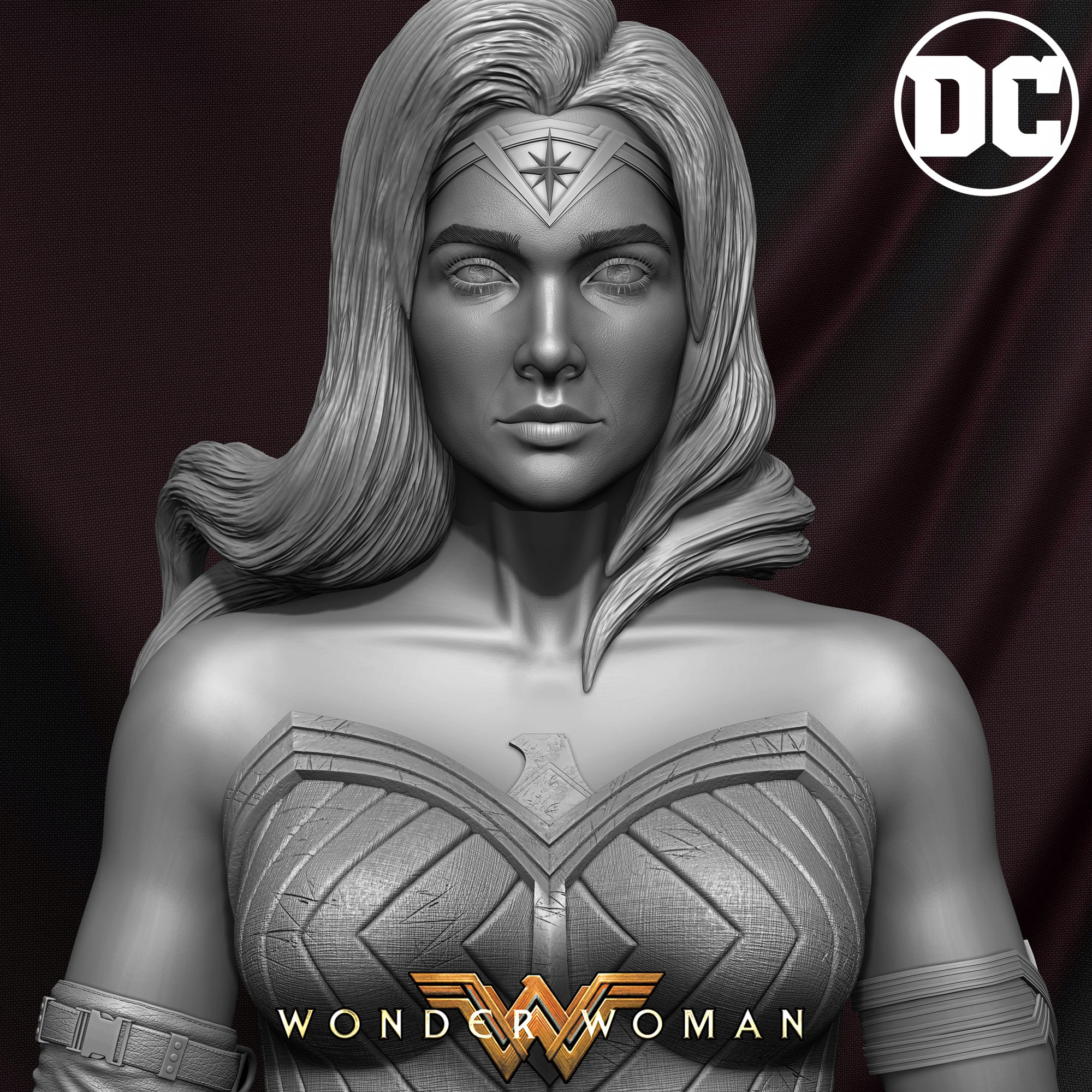 Wonder Woman ZBrush Version, Personal Project (Sculpted By Yacine BRINIS) Set 11
