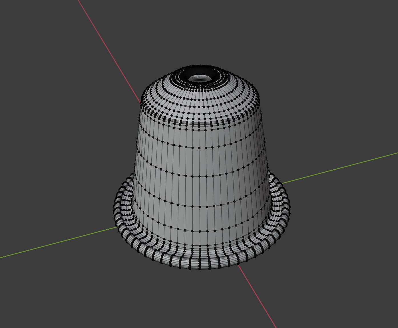 Coffee Pod in Blender Wireframe