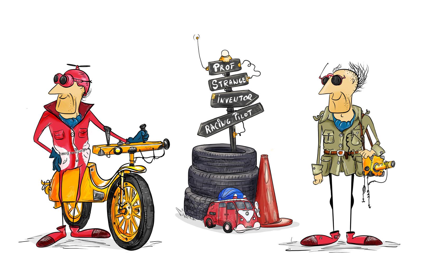 Prof. Strange (scientist, inventor, racing pilot)