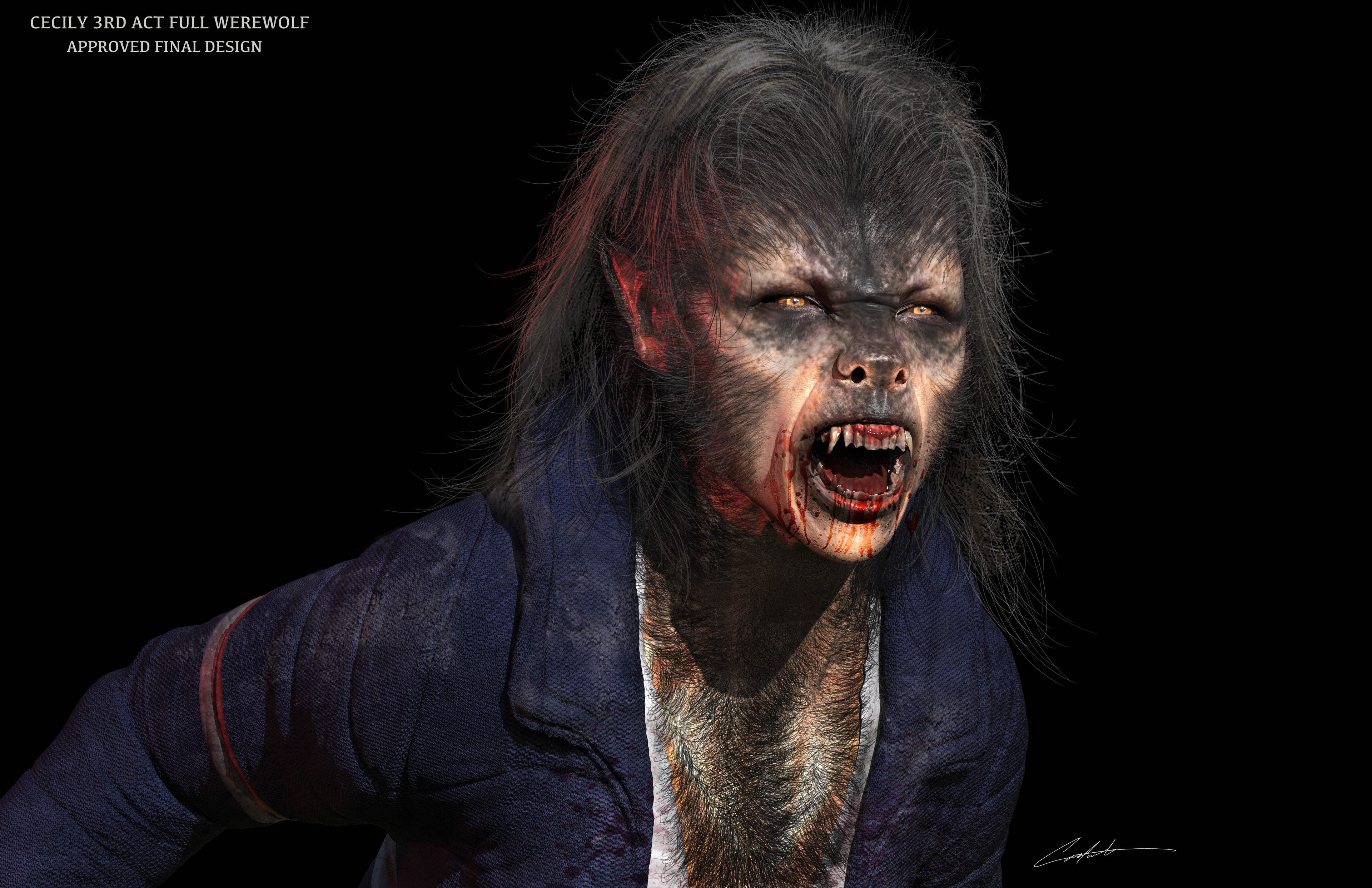 """Werewolves Within 'Cecily makeup Design"""""""