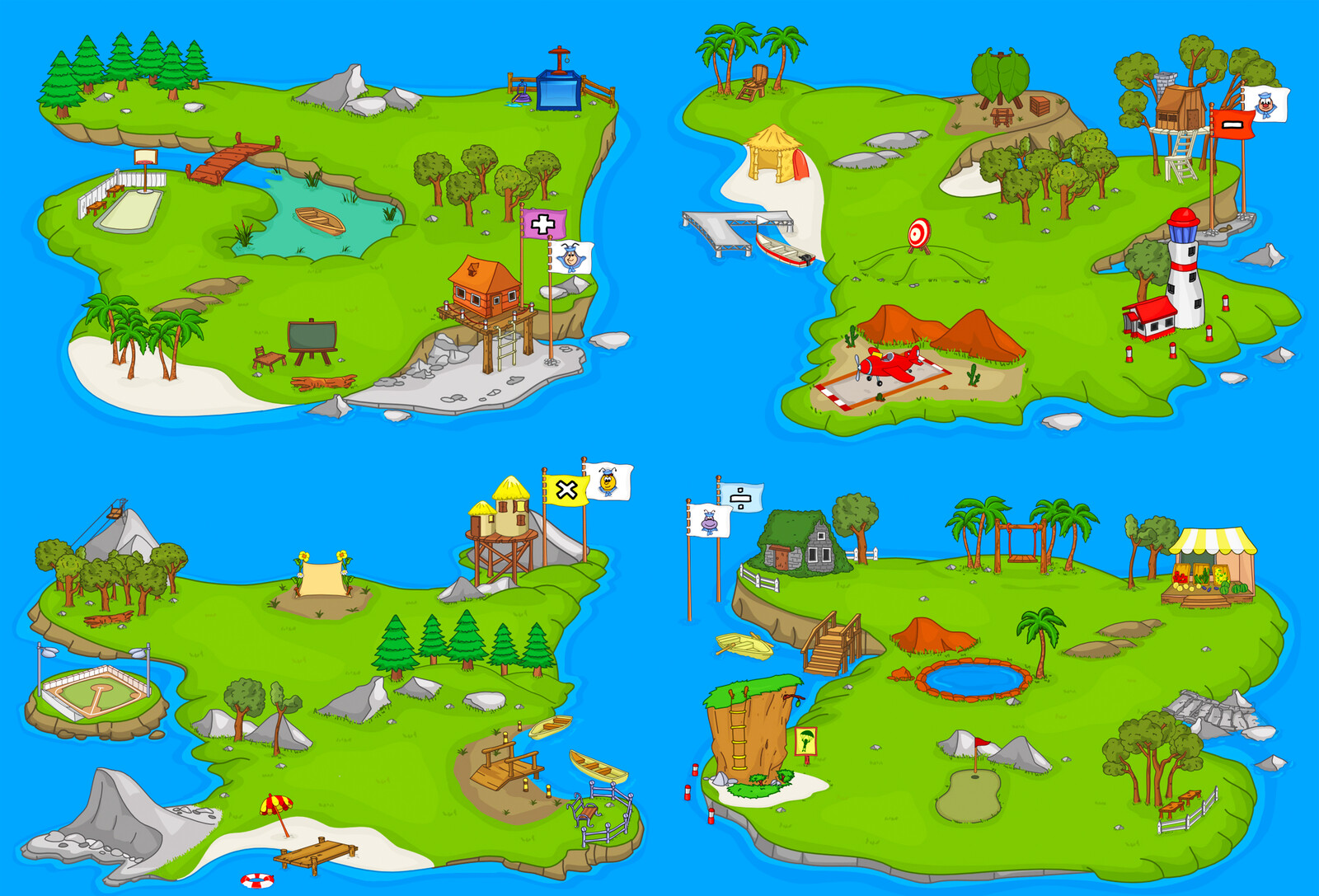 The Small Island, 12 educational games