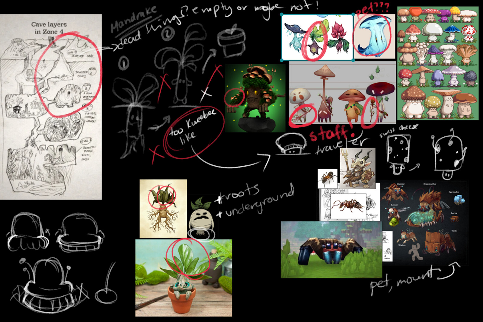 Initial moodboard for brainstorming and planning!
