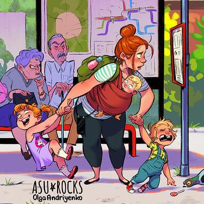 Olga andriyenko post busstop color