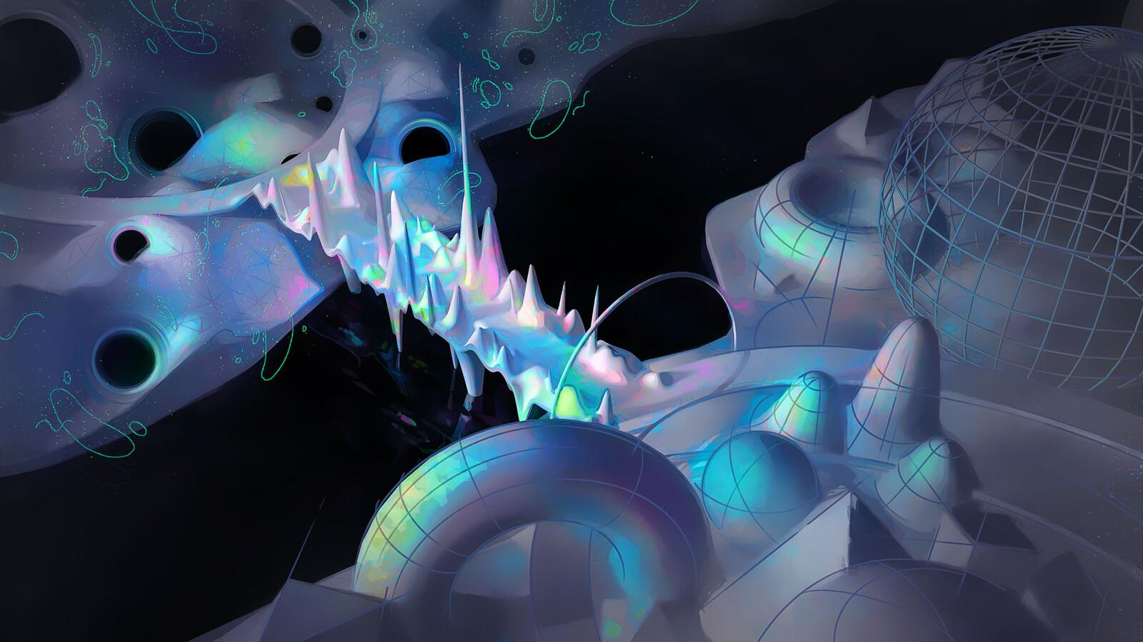 Quantum Field Theory – Liouville Bridge • Science / Physics / Math Illustration