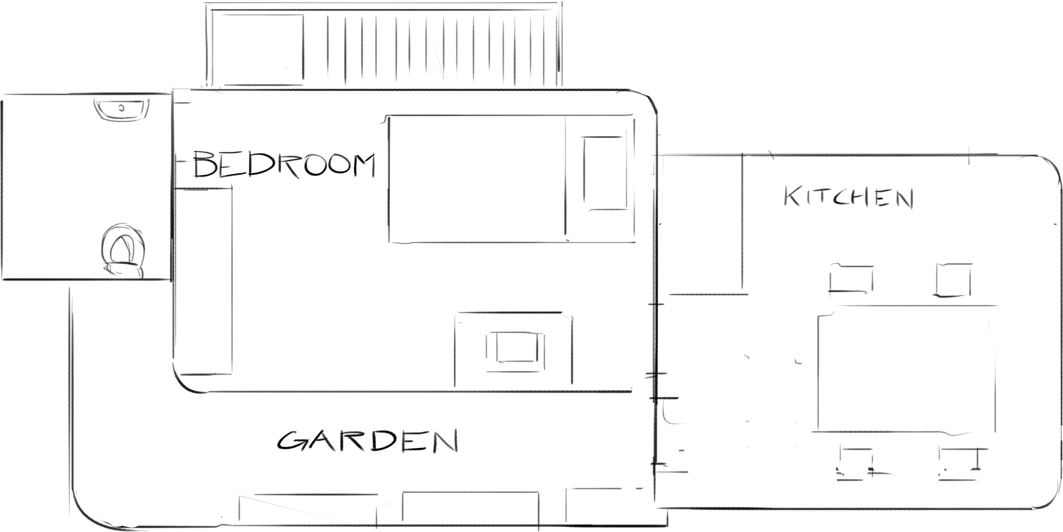 Upper level plan view