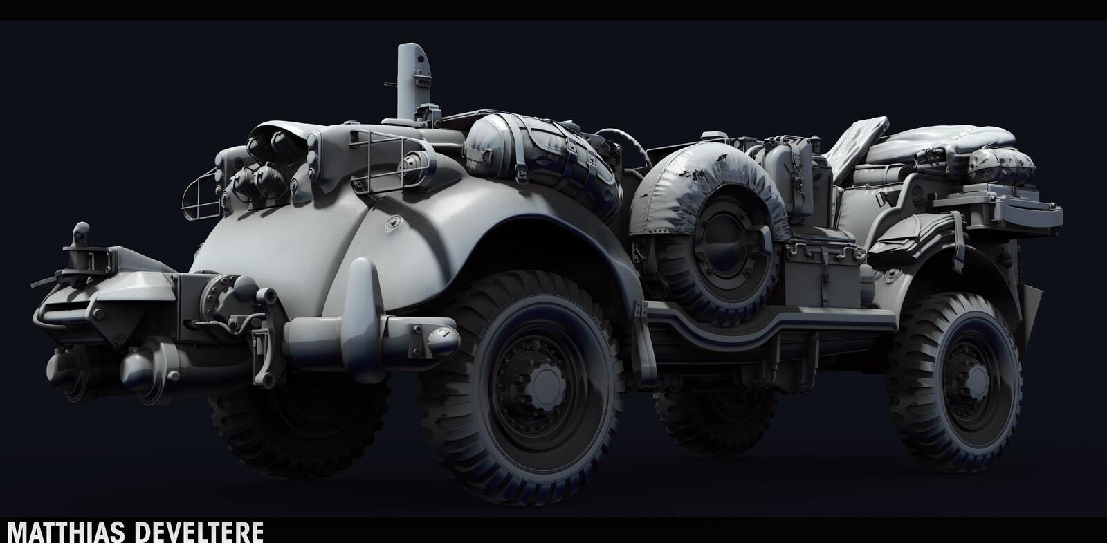 SCI-FI WW2 Jeeps
