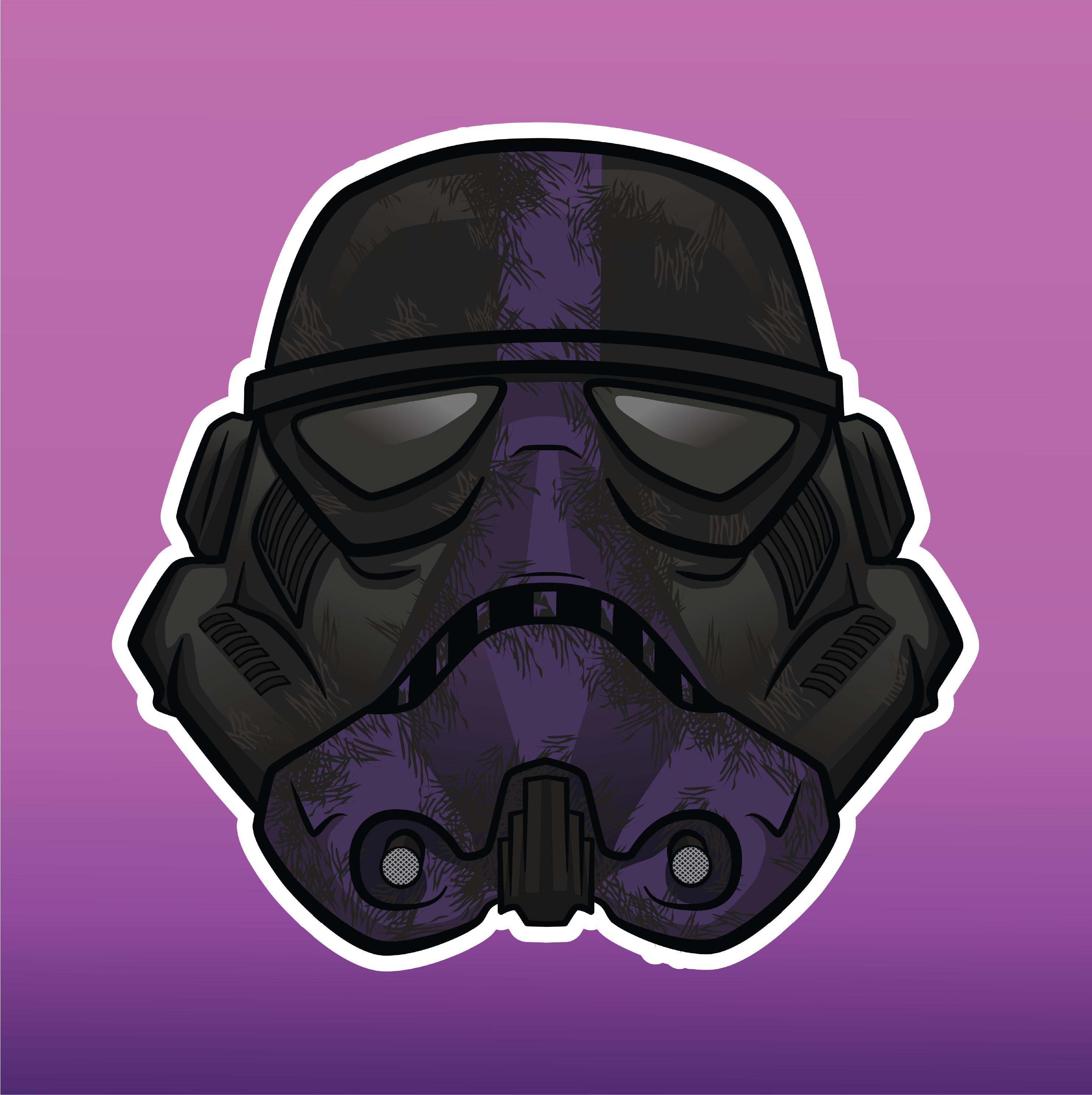 Custom Stormtrooper Mascot Logo Illustration