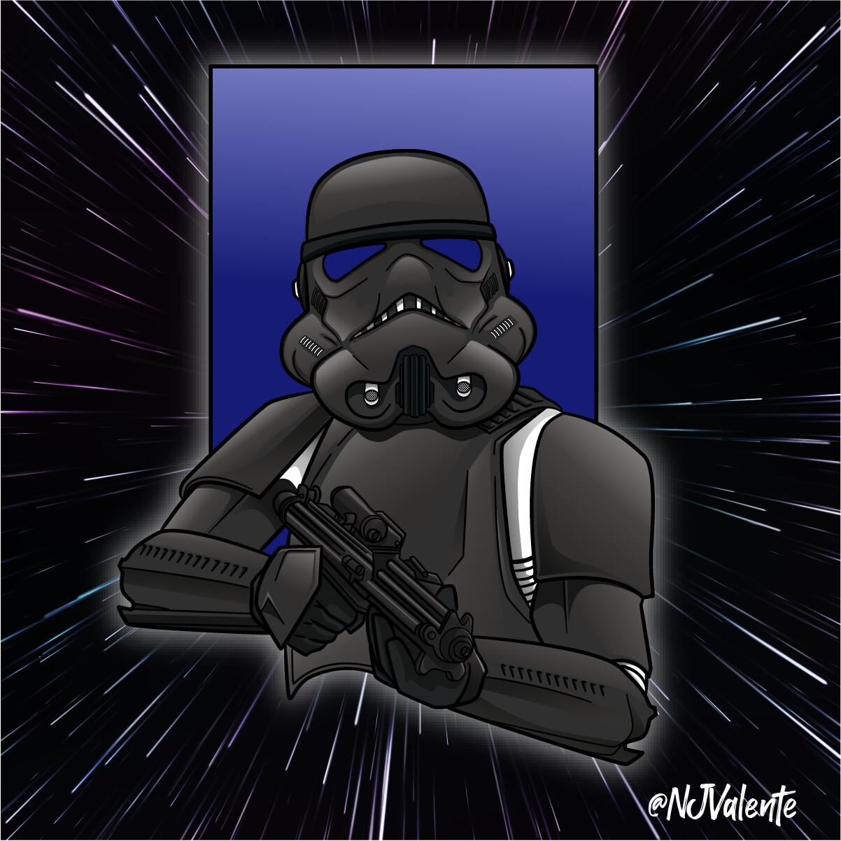 Stormtrooper Mascot Logo Illustration