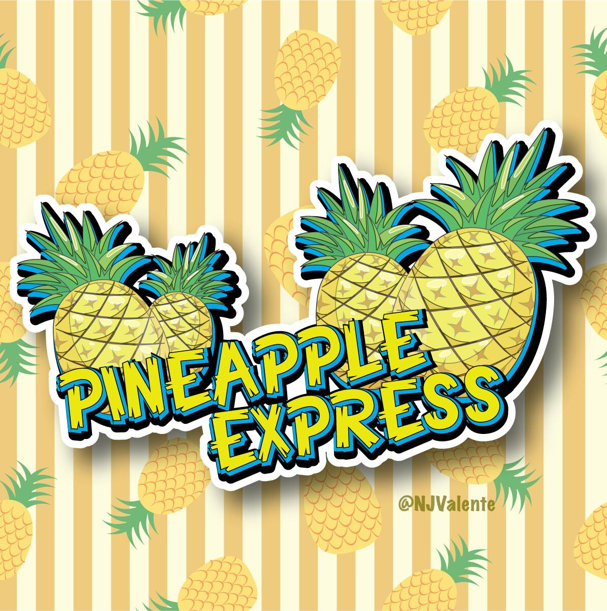 Pineapple Express Cannabis Logo Design