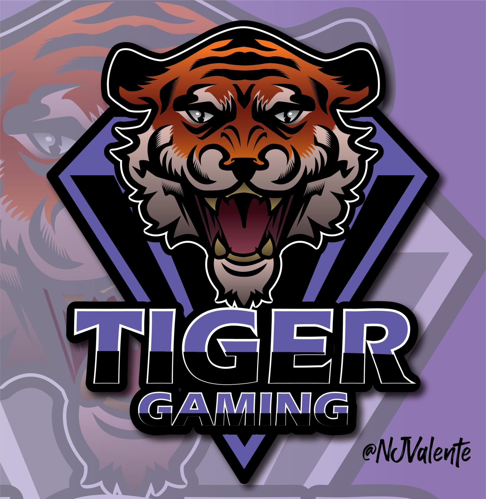 Tiger Gaming Mascot Logo