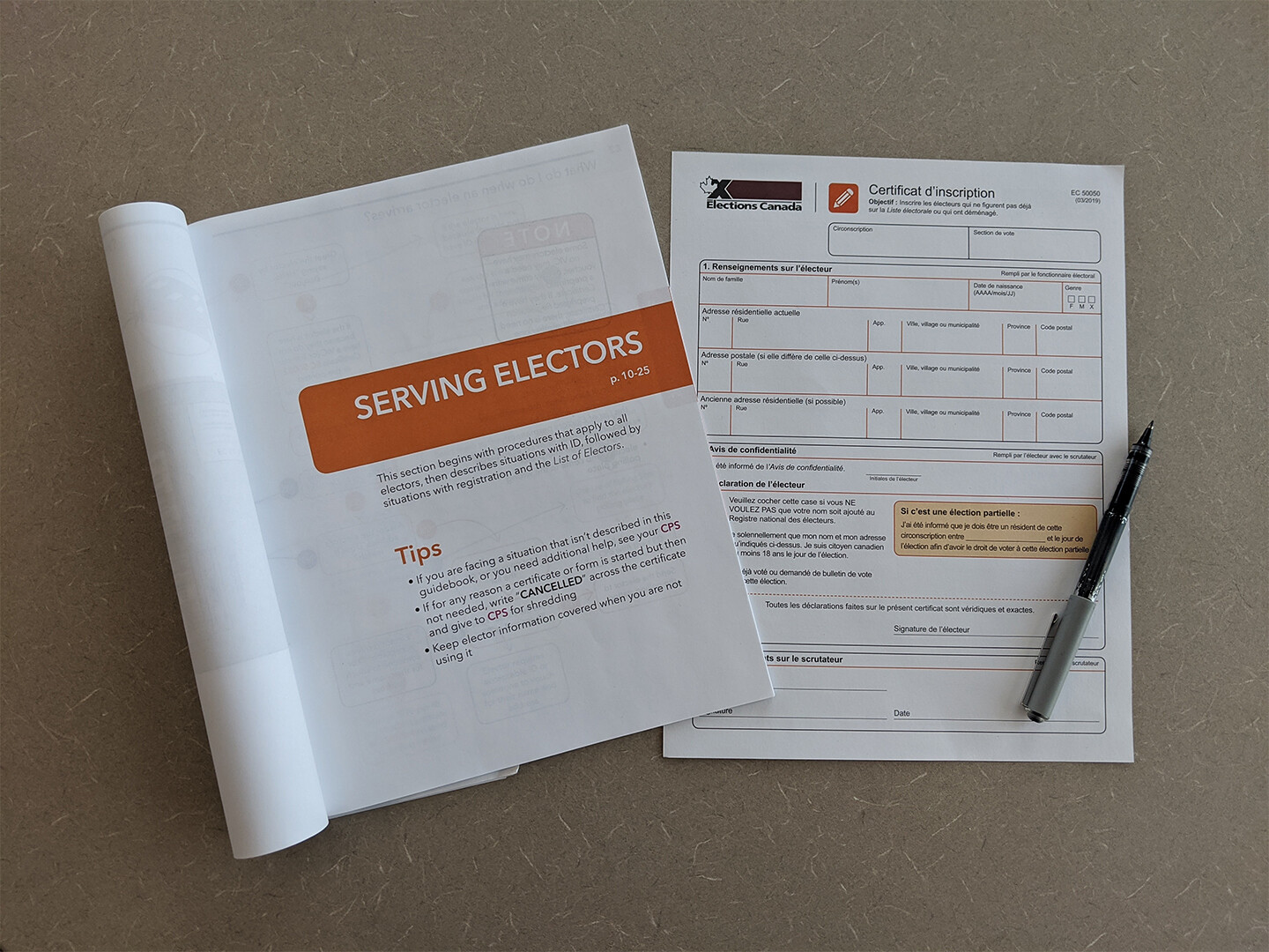 Guide and certificate in use together