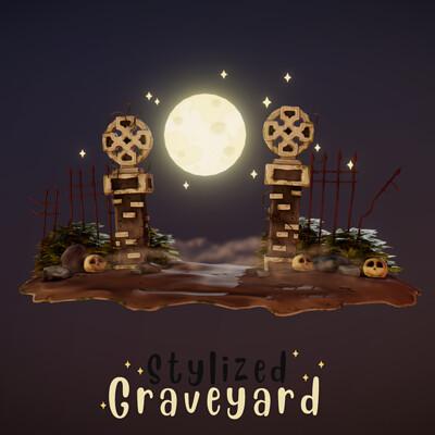 Stylized Graveyard Entrance