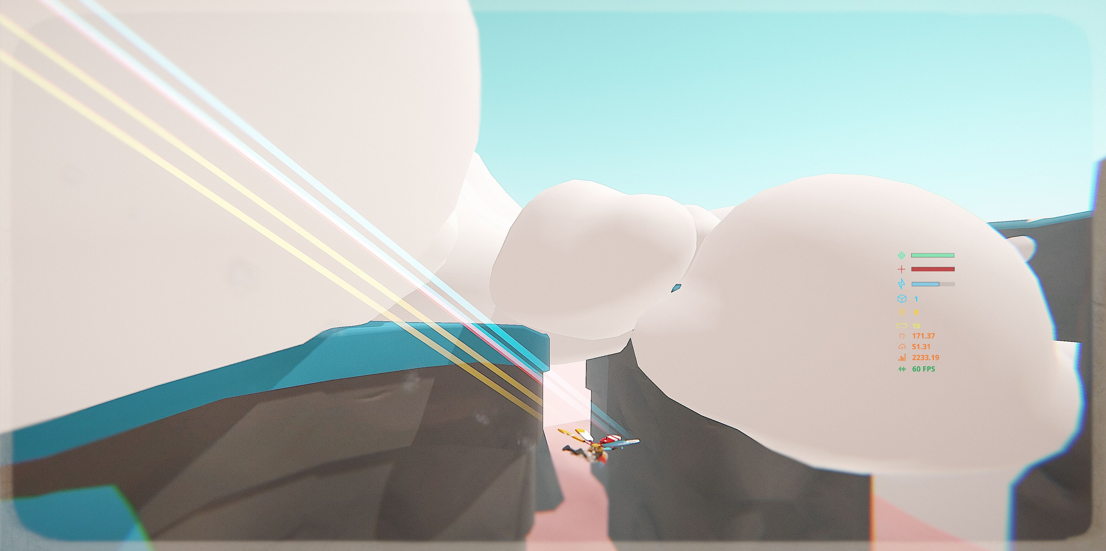 This is a large level designed to take advantage of the player's gliding ability.