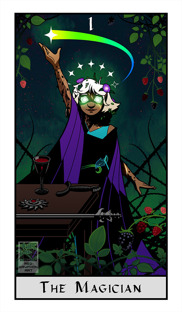 Inspired by The Shipwreck Arcana game, with composition inspired by the Rider-Waite tarot art. Amusingly enough, the game's important items directly correspond to the items on the table in the Rider-Waite card--the sword, coin, wand, and cup suits.