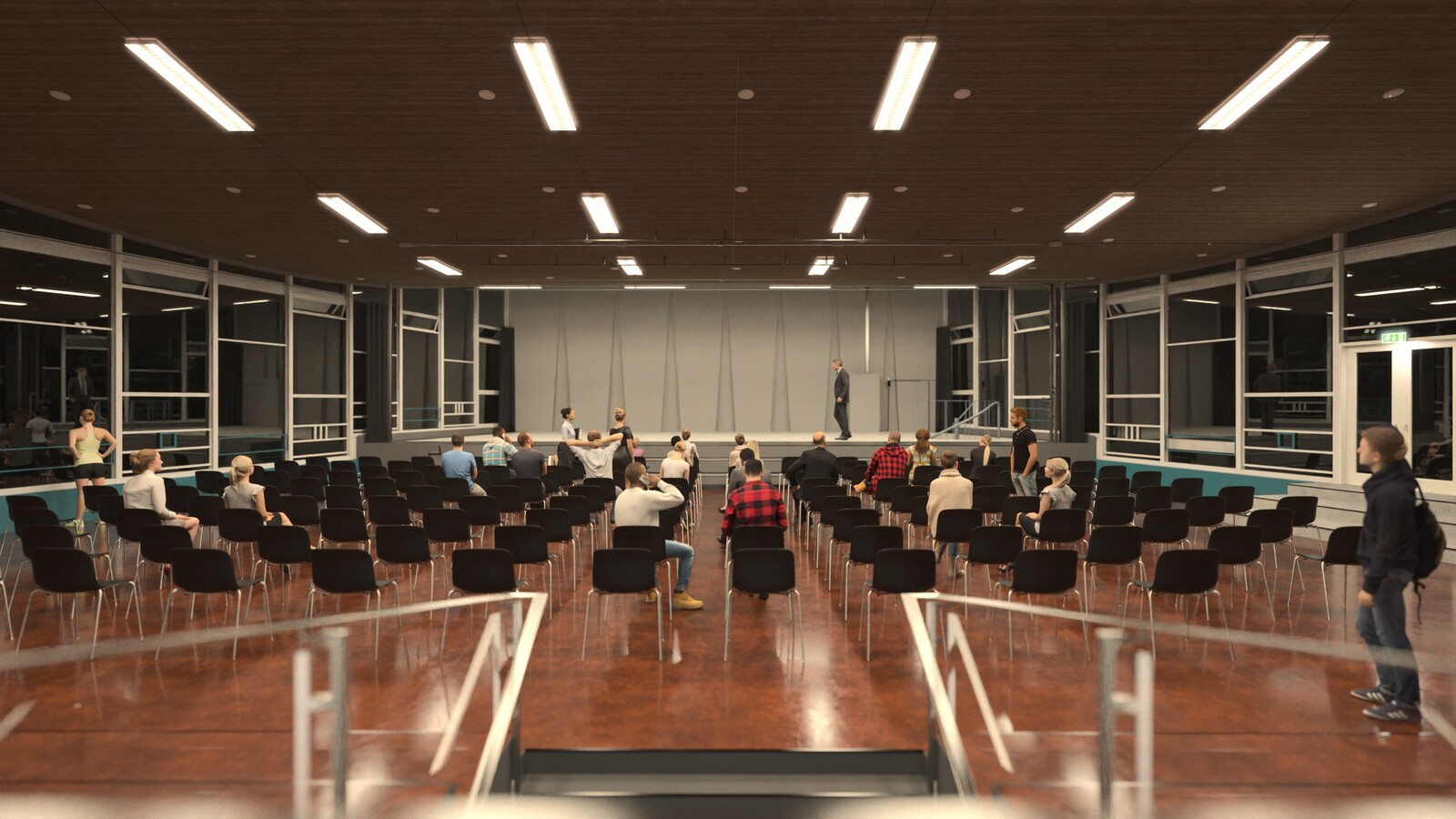 SketchUp 2021 + Thea Render V3 Broedplaats LELY (The Lely Incubator) Auditorium Amsterdam Showroom-Scene 1B 25m31s HD1080 1024sp