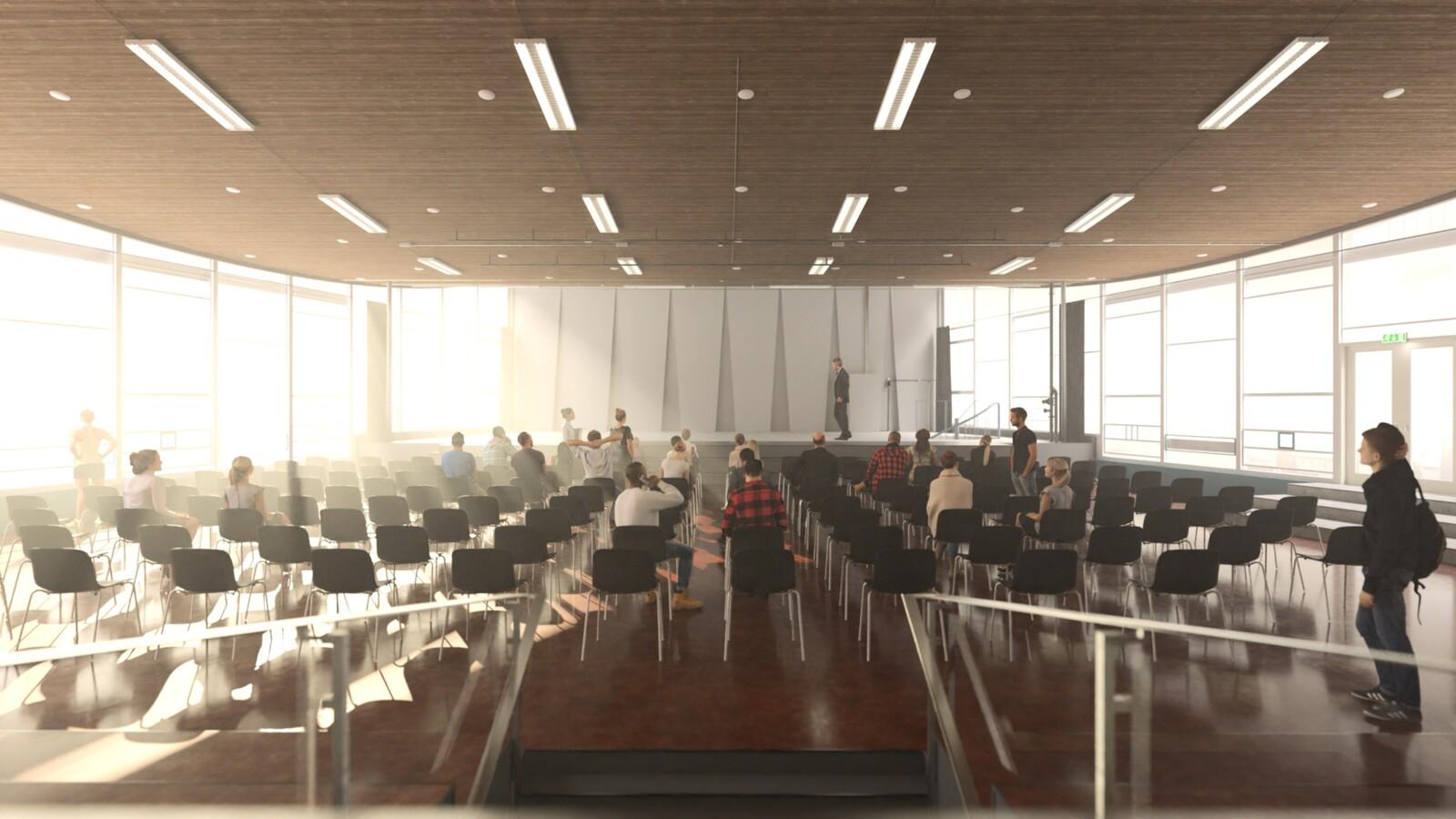 #SketchUp 2021 + #Thea Render V3 Broedplaats LELY (The Lely Incubator) Auditorium Amsterdam Showroom-Scene 1C 19m HD1080 1536sp