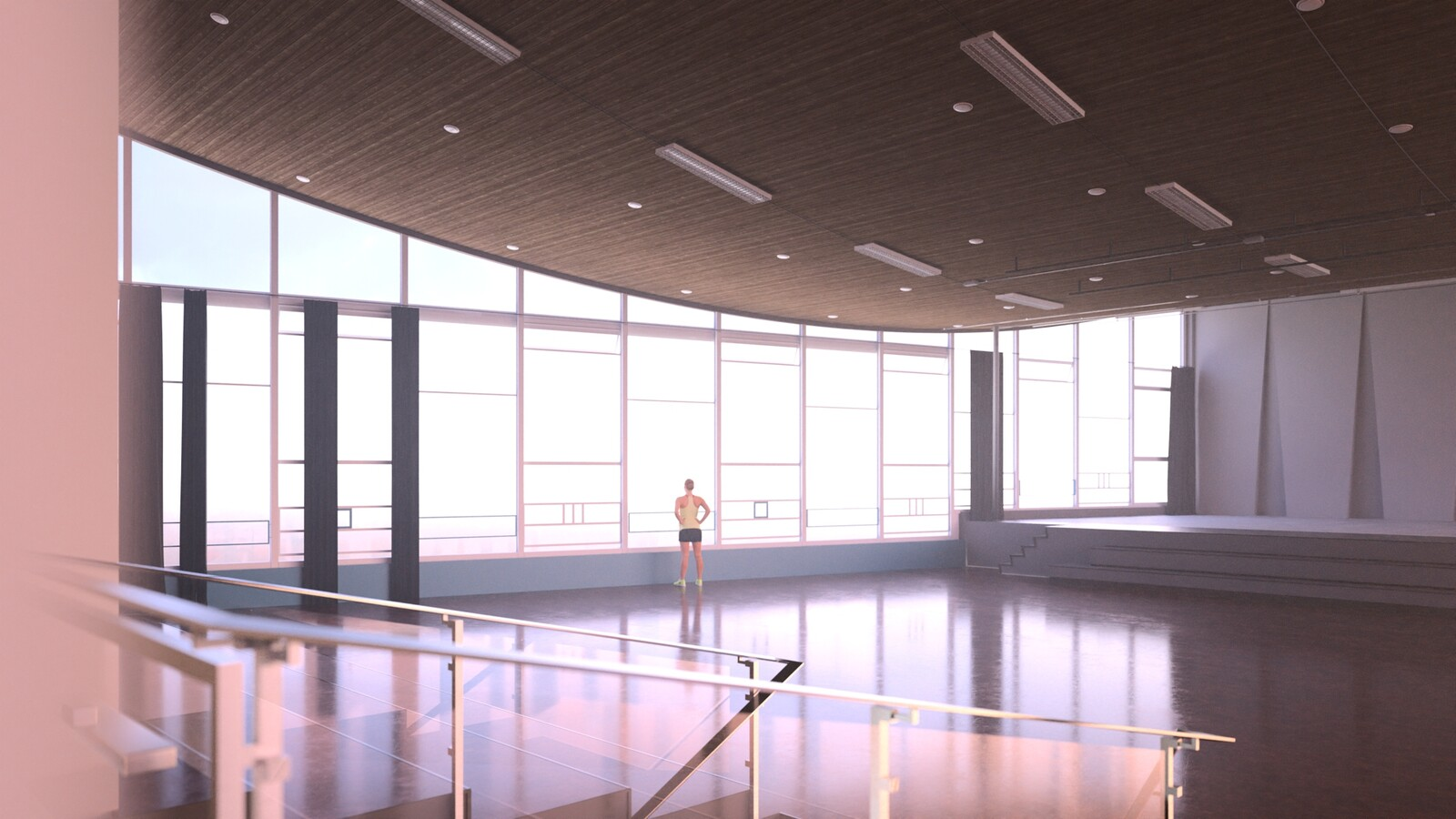 SketchUp 2021 + Thea Render V3 Broedplaats LELY (The Lely Incubator) Auditorium Amsterdam Showroom Final-Scene 5 17m32s HD1080 1536sp