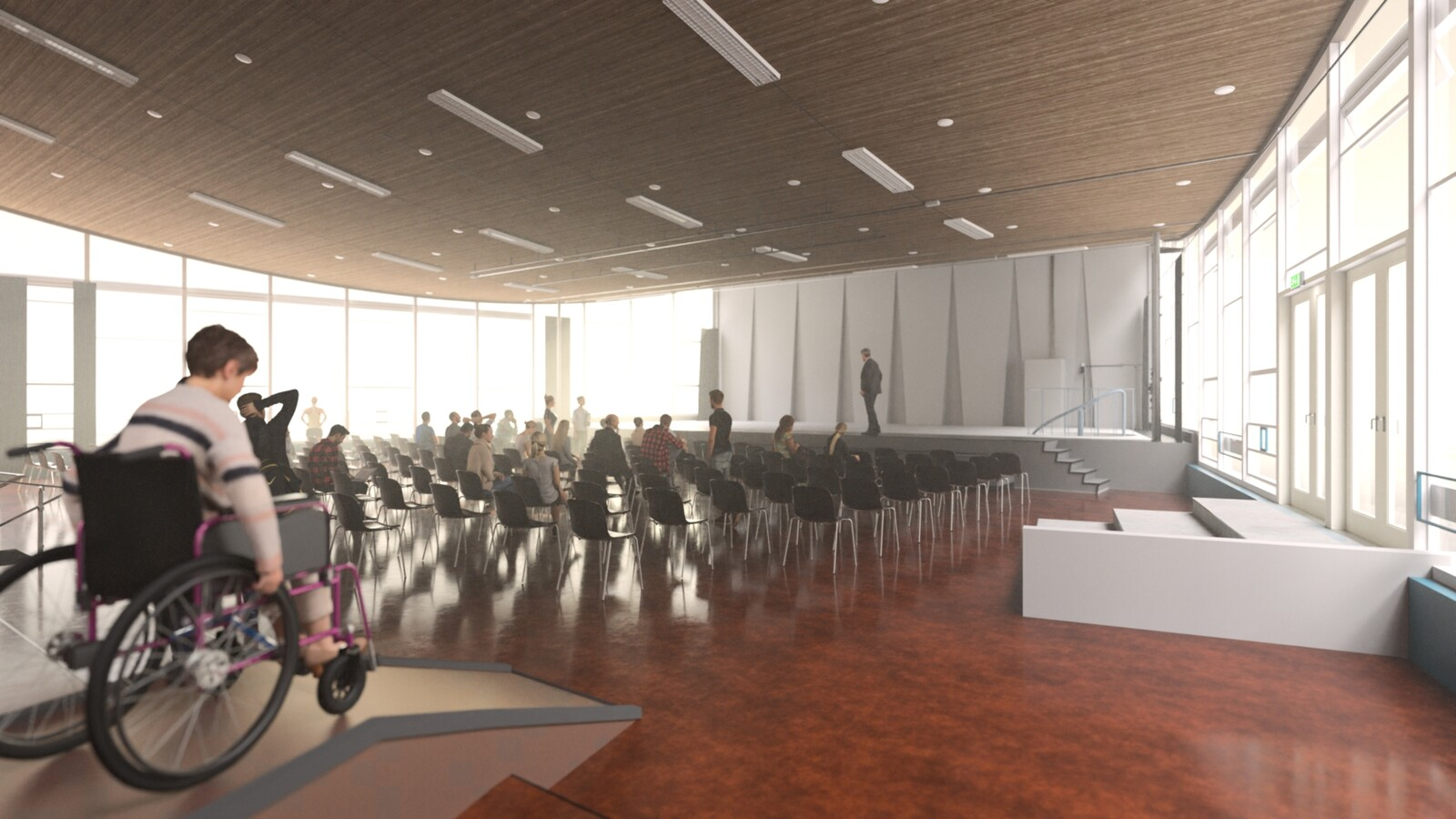SketchUp 2021 + Thea Render V3 Broedplaats LELY (The Lely Incubator) Auditorium Amsterdam Showroom Final-Scene 6E 22m04s HD1080 1536sp